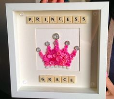 Check out this item in my Etsy shop… Disney Button Art, Disney Buttons, Hobbies And Crafts, Diy And Crafts, Crafts For Kids, Paper Crafts, Scrabble Tile Crafts, Scrabble Wall Art, Disney Princess Crafts