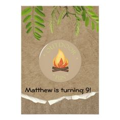 Shop Rustic Camping Party Birthday Invitations created by Invitationboutique. Bonfire Birthday, Sleepover Birthday Parties, Rustic Invitations, Zazzle Invitations, Camping Invitations, Birthday Party Invitations, Birthday Party Themes, Birthday Ideas, Backyard Camping Parties