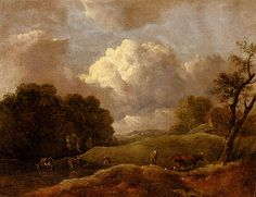 An Extensive Landscape With Cattle And A Drover, Thomas Gainsborough