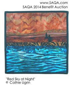 Art quilt by Cathie Ugrin #artquilts #SAQA