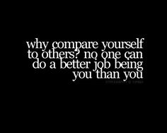Why compare?