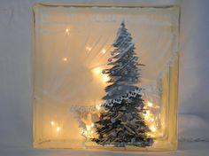 Glass Block Light-Curtain Tree-Night Light Lamp