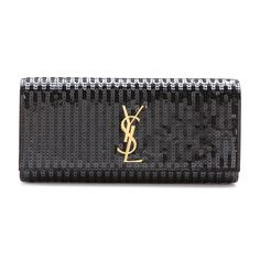 mytheresa.com - Classic Monogramme sequinned clutch - Clutch bags - Bags - Luxury Fashion for Women / Designer clothing, shoes, bags