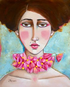 Colorful, Whimsical, and Contemporary Oil Paintings About Women, Love, and Life Love Painting, Woman Painting, Painting & Drawing, Abstract Portrait, Portrait Art, Blood Art, Spring Art, People Art, Face Art