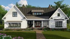 Plan 4 Bed New American Farmhouse Plan With Bonus Over Garage Craftsman Farmhouse, Modern Farmhouse Exterior, Craftsman House Plans, Modern Farmhouse Style, 4 Bedroom House Plans, American Farmhouse, Open Concept Floor Plans, Country Style House Plans, Architectural Design House Plans