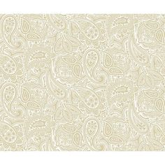 Quiltable Paisley Fabric, Natural