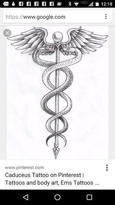 caduceus tattoo google search tattoos pinterest magier symbole und t towierungen. Black Bedroom Furniture Sets. Home Design Ideas