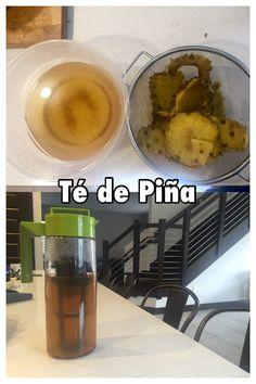Tè de Piña - para desinflamar y adelgazar #FitMonday   Pela la piña y separa las cáscaras, en una olla hierves la cascara de piña y clavos de canela durante 40 minutos a fuego bajo, para que las cáscaras suelten todos sus nutrientes.  Apaga el fuego y deja reposar hasta que esté completamente frío, para luego colarlo y separar el agua en un frasco.   Este té de piña lo puedes tomar frío o caliente en cualquier momento del día y en la cantidad que desees.