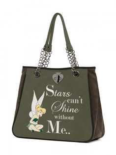 <p>Le Pandorine Disney bag- capacious shopping bag made of faux leather with a practical inner dividing pocket, double bronzed metal handles, external metal bronzed catch.<br /><br /><strong>Graphic:</strong>Stars can't shine without me..<br /><strong>Color:</strong>Olive<br /><strong>Material:</strong> Faux Leather<br /><strong>Size:</strong>38x38x15 cm</p>