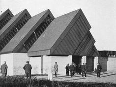 """arqsa: """" germanpostwarmodern: """" Reformed Church in Effretikon, Switzerland, by Ernst Gisel """" Sacred Architecture, Kirchen, Contemporary, Modern, Switzerland, Facade, Concrete, Louvre, Building"""