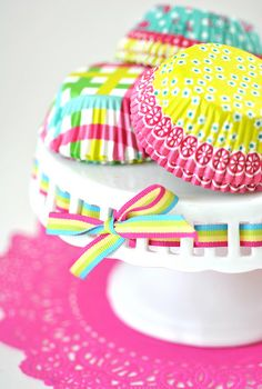 ribbon stripes - had to repin this simply because I love the colours and it's so cheerful