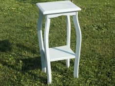French Country End Table in Light Blue at Ancient by ancientofdaze, $39.99