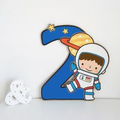2nd Birthday Boys, 2nd Birthday Parties, Birthday Party Decorations, Outer Space Party, Outer Space Theme, Astronaut Party, Moon Party, Birthday Numbers, Cs Lewis
