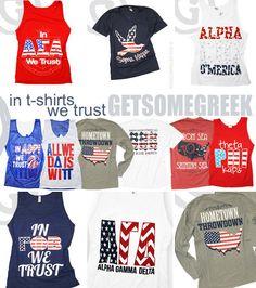 GET SOME GREEK ❤s sorority stars & stripes!!! http://www.getsomegreek.com