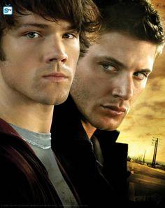 "Supernatural S3 Cast: Jared padalecki ""Sam Winchester,"" Jensen Ackles ""Dean Winchester"""