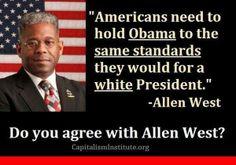 Allen West Bold statement.