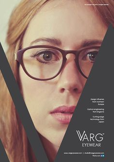 Varg Eyewear Advertisements by Ross Sweetmore, via Behance