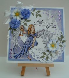 And now to our inspiration for today. #cheeryld Dies used: Small Exotic Butterflies #1 w/Angel Wings - DL112AB; Priscilla Doily w/Angel Wing - DL260; Daisy Strip - B259; Sweet Williams Strip - B307; Ivy Strip - B304; Circle-Classic LG Stackers Nesting Dies - XL-4 http://www.cheerylynndesigns.com