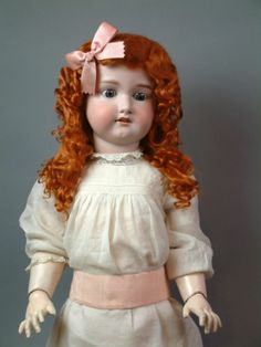 """RARE Gorgeous 35"""" Early Armand Marseille Antique German Child Doll Excellent 
