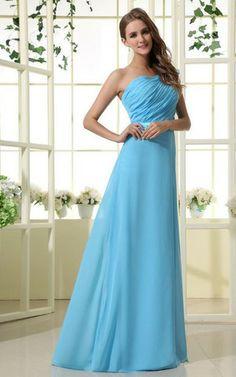 Etui sittsames Elegantes Brautjungfernkleid mit Rüschen mit Gürtel