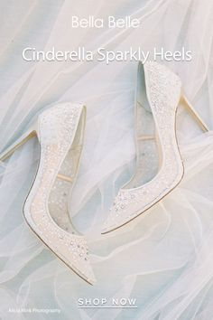 Perfect for glamarous brides, Elsa is a sparkly crystal Cinderella wedding heel that is actually comfortable. Wear with your ballgown or crystal wedding dress. Converse Wedding Shoes, Wedge Wedding Shoes, Wedding Heels, Bride Shoes, Ivory Wedding, Crystal Wedding, Cinderella Wedding Shoes, Tiffany Blue Heels, Best Bridal Shoes