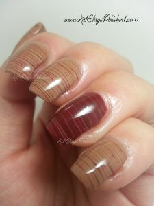 Cherry Chocolate Spun Sugar Design Nails