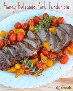Honey-Balsamic Pork Tenderloin with Roasted Tomatoes