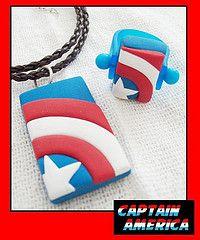 """Dije y Anillo Captain America (""""creativARTE: Detalles en plastilina"""") Tags: fimo clay detalles polymer plastilina creativarte"""