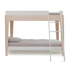 Kylan just finished building our very own Perch bunkbed. It's unbelievably beautiful...now we just need to decide on bedding to honor the clean, modern lines and also celebrate the femininity of little girls...