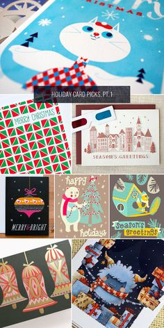 """Holiday Card Picks, Pt. 1 as seen on papercrave.com"""