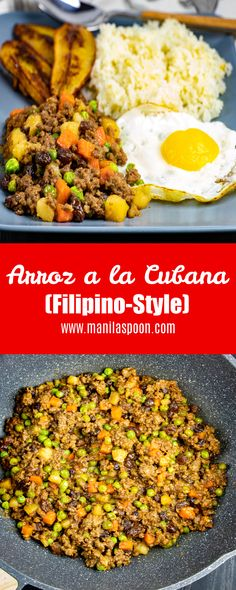 This Filipino-style Arroz a la Cubana is a delicious and easy dish that comes together very quickly and is always a great option for BREAKFAST, LUNCH OR DINNER! Such a popular recipe that's become a staple on many households!