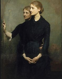 Abbot Anderson Tayer(1849ー1921)「Las hermanas(The sisters)」(detalle 1884)