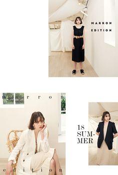 marron edition 18SUMMER Magazine Design Inspiration, Magazine Layout Design, Website Design Inspiration, Lookbook Layout, Lookbook Design, Page Layout Design, Website Design Layout, Web Layout, Fashion Web Design
