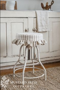 the stool covers are back - Miss Mustard Seed