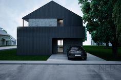 Návrh domu MAC - NED ATELIER Minimalist Architecture, Interior Architecture, Interior Design, Industrial Sheds, Home Greenhouse, Townhouse, House Plans, New Homes, House Design