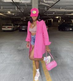 Bad Girl Style, My Style, Pink Outfits, Cute Outfits, Girl Fashion, Fashion Outfits, Spring Summer, Shirt Dress, Baddies