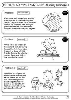 """a packet with a series of task cards on the """"Working Backwards"""" strategy.Here's a packet with a series of task cards on the """"Working Backwards"""" strategy. Math Strategies, Math Resources, Math Tutor, Teaching Math, Problem Solving Activities, Math Questions, Math Words, Third Grade Math, Grade 3"""