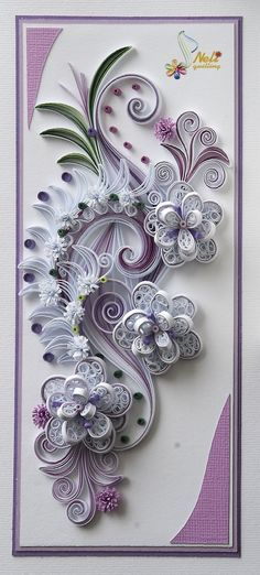 Neli Quilling Art: Quilling card - flowers More