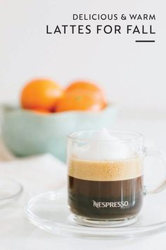 Warm yourself up from the inside out with this collection of latte recipes for fall. Choose between seasonal flavors like Apple Ginger Coffee, Caramel Milk Froth Iced Vanilla Coffee, and Chopped Hazelnuts Chiboust Coffee Cream to find a delicious drink to satisfy every Nespresso moment. Click here to learn more.