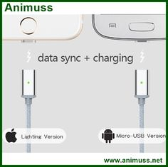 Micro Metal 2A Magnetic USB quick Charging Charger data Cable For Apple iPhone 5 5C 5s SE 6 6s plus iPad Air Mini HTC Google sky Animuss Company Limited www.animuss.net email:sky@animuss.net skype:animuss.animuss mobile/whatapp:+86-18033097183 Apple I Phone 7, Charger Adapter, Charging Cable, Ipad Air, 6s Plus, Usb, Iphone, Metal, Mini