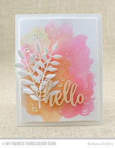 Warm Pastel Thanks by Bar - Cards and Paper Crafts at Splitcoaststampers