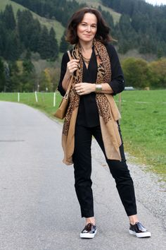 Lady of Style. A Fashion Blog for Mature Women. I would pick a nicer scarf but this is cute!