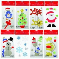 Kids safe decorate ideas with windows gel clings. Christmas Tree Bows, Xmas Ornaments, Xmas Tree, Kids Christmas, Advent Activities, Make A Snowman, Paper Magic, Window Clings, Xmas Decorations