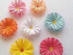 Margaritas de papel muy fáciles y rápidas. ¡Te encantarán!