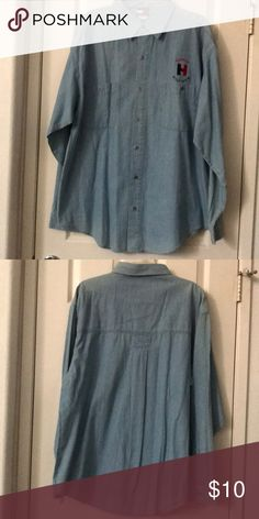 "Denim Long Sleeve Shirt Denim long sleeve shirt. My husband received this as a gift. It was never worn, the shirt had no tags. I don't think it's a real Tommy Hilfiger. Armpit to armpit:24.5"" length:32"" Shirts Casual Button Down Shirts"