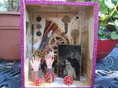 Hey, I found this really awesome Etsy listing at https://www.etsy.com/listing/248847567/mixed-media-assemblage-shadow-box