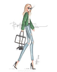 This seemed like the perfect illustration to post as I'm packing up and heading to NYC for a few days. Her name is Tribeca and she's sporting the color of the month, green. Green Fashion, Fashion Art, Ballet Fashion, Classy Quotes, Sexy Drawings, Sassy Pants, Black Ombre, Fashion Sketches, Fashion Illustrations