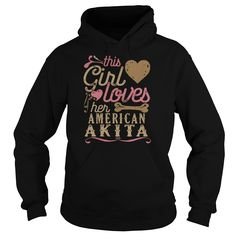 This Girl Loves Her American Akita T-Shirts - Womens T-Shirt
