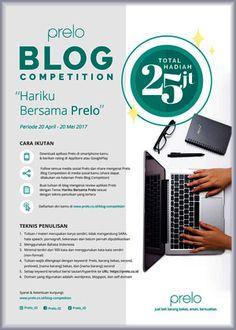 #LombaBlog #Prelo #BlogCompetition Prelo Blog Competition 2017 Berhadiah Total 25 Juta Rupiah  DEADLINE: 20 Mei 2017  http://infosayembara.com/info-lomba.php?judul=prelo-blog-competition-2017-berhadiah-total-25-juta-rupiah
