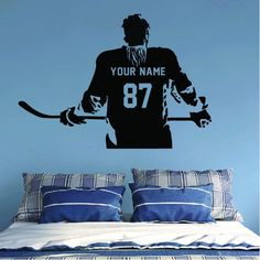 ALL HOCKEY STICKERS Wall Stickers Room, Wall Decals, Hockey Room, Baseball Wall, Hockey Gifts, Sport Motivation, Decorate Your Room, Hockey Players, Wall Colors